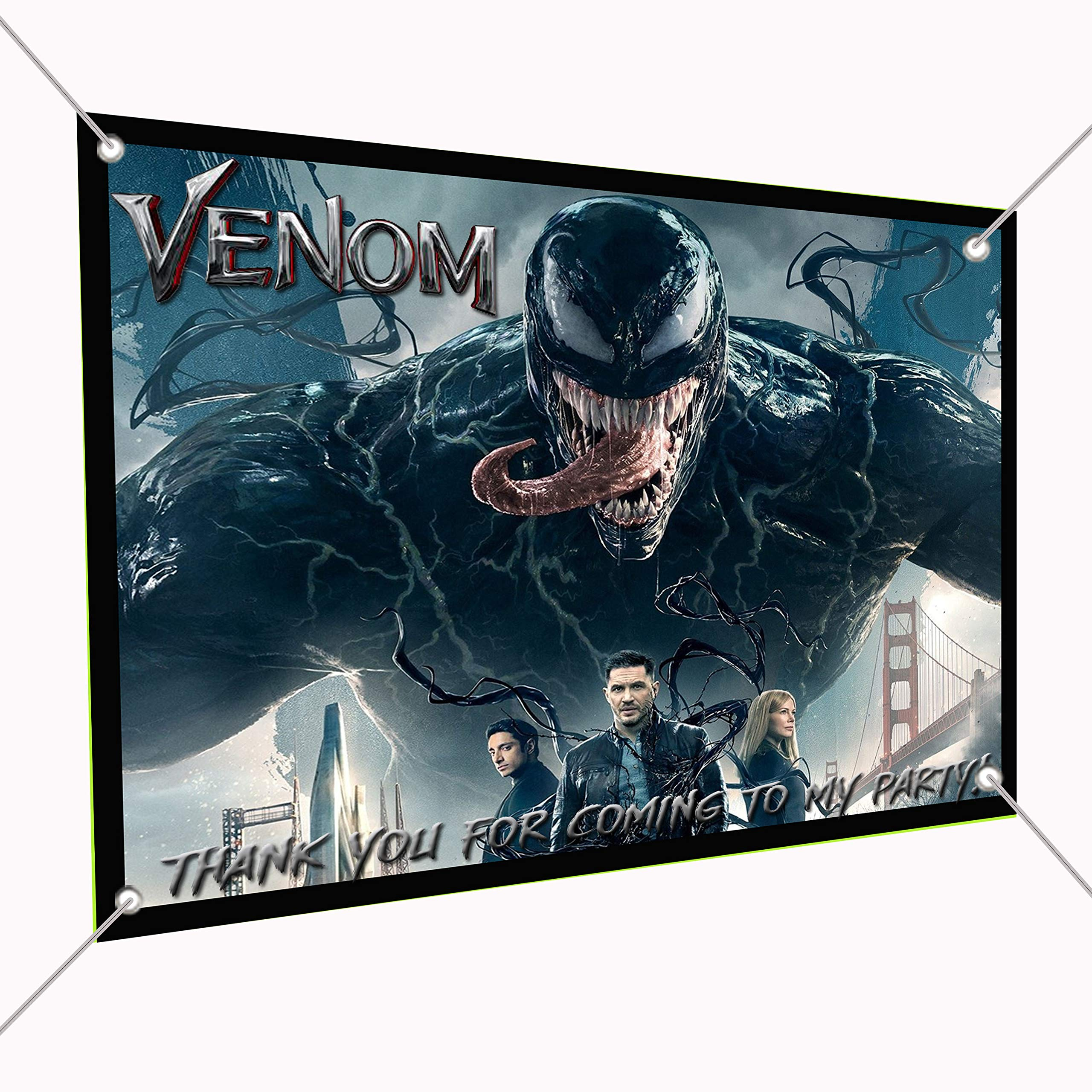 Venom Movie Banner Large Vinyl Indoor or Outdoor Banner - Sign Poster Backdrop, Party Favor Decoration, 30'' x 24'', 2.5' x 2' Marvel Comics Anti-Hero Eddie Brock
