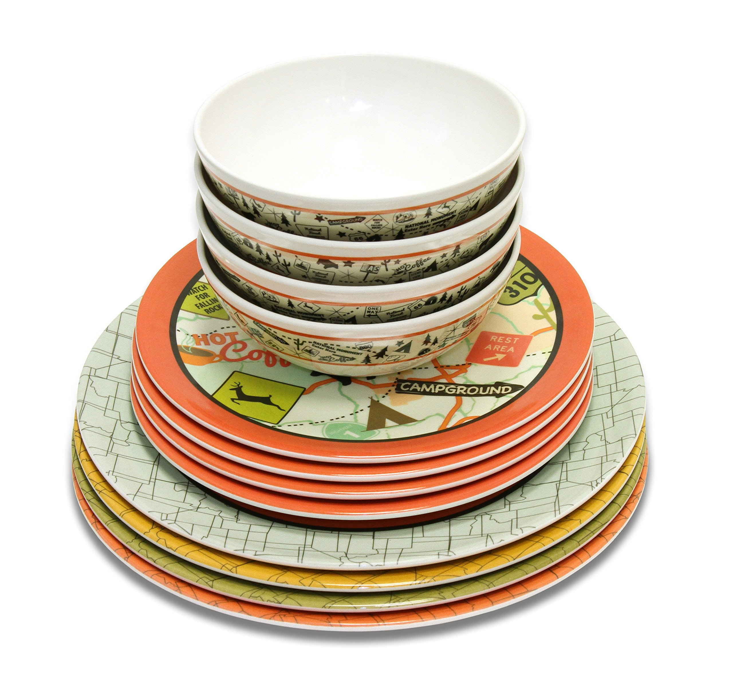 Camp Casual CC-001 12-Piece Dish Set by Camp Casual (Image #4)
