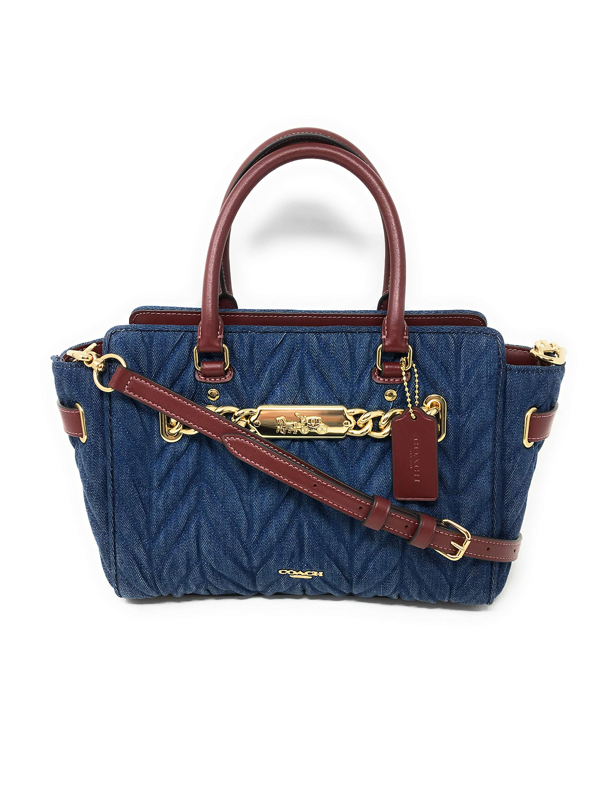 COACH F39905 BLAKE CARRYALL 25 WITH QUILTING DENIM