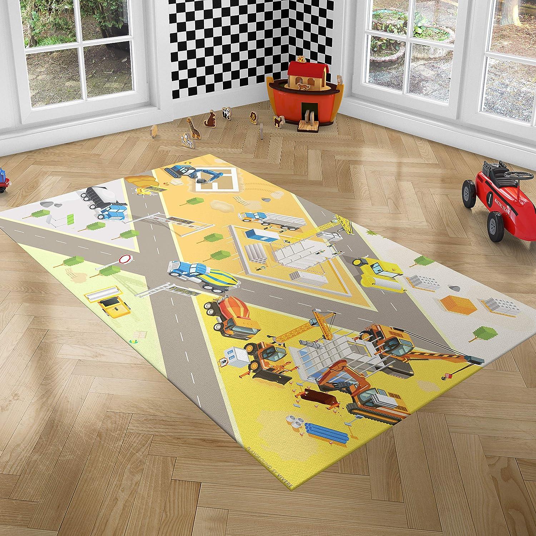 alfombra de juego acolchada para beb/é//apropiada para parques de 100x100cm 100/% algod/ón incluye elementos de juegos para beb/és Manta de juegos roba