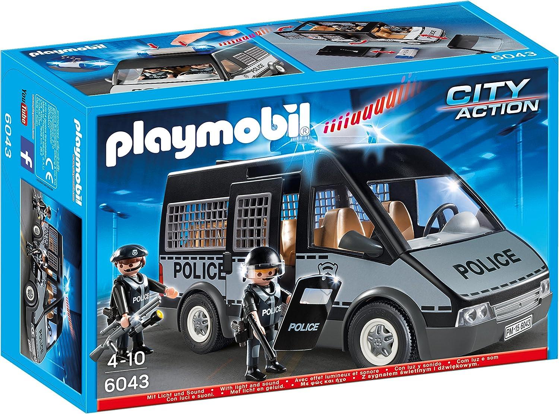 PLAYMOBIL - Furgón de policía con Luces y Sonido (60430)