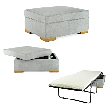 Incredible Spacemaster Ibed Convertible Ottoman With Fold Out Hideaway Guest Bed Gray Cjindustries Chair Design For Home Cjindustriesco