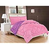 Elegant Comfort All Season Comforter and Year Round Medium Weight Super Soft Down Alternative Reversible 2-Piece Comforter Se