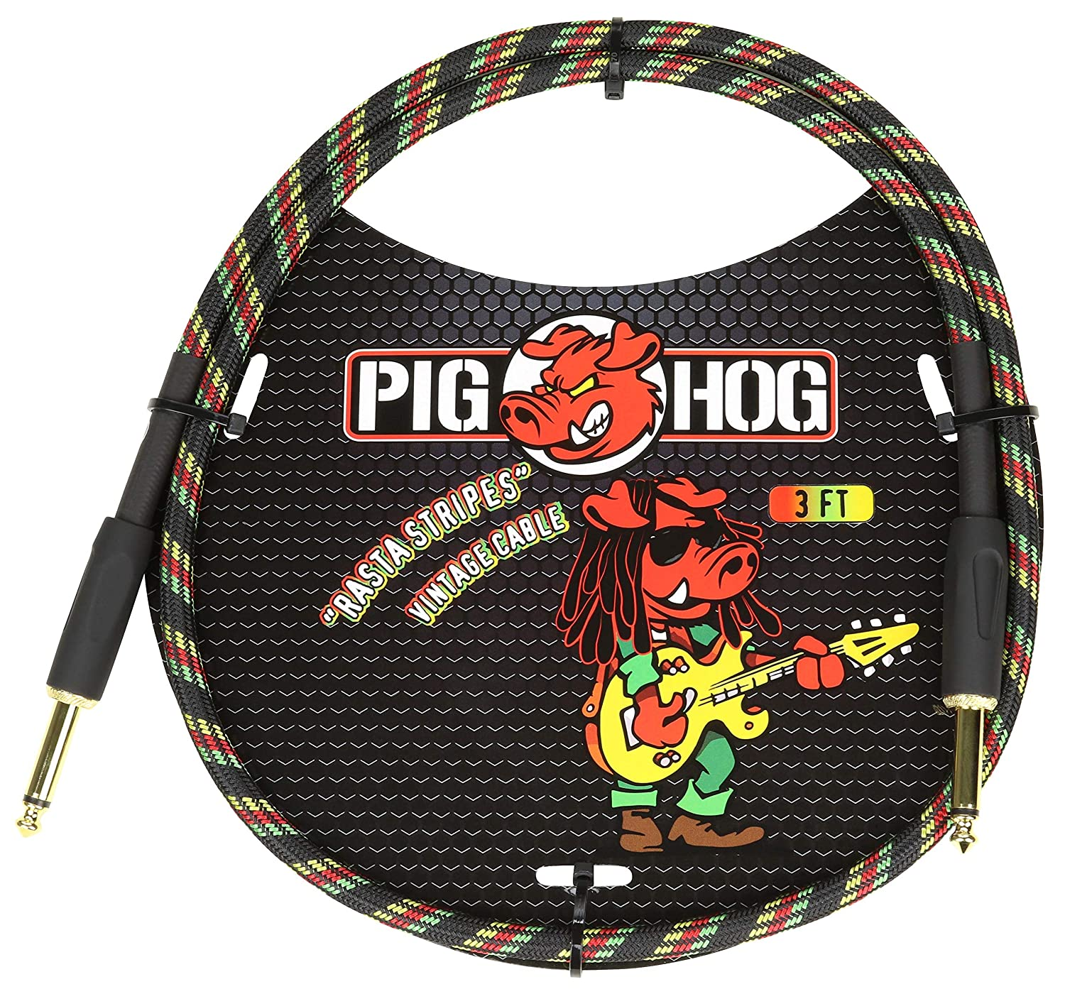 Pig Hog PCH3AG 1//4 to 1//4 Amplifier Grill Instrument Patch Cable 3 Feet