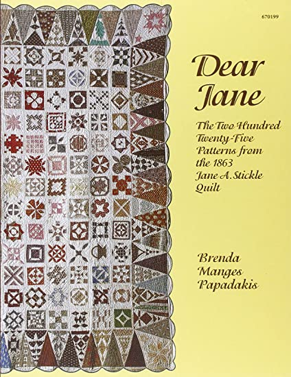 EZ Quilting Dear Jane - Libro de patrones para colchas