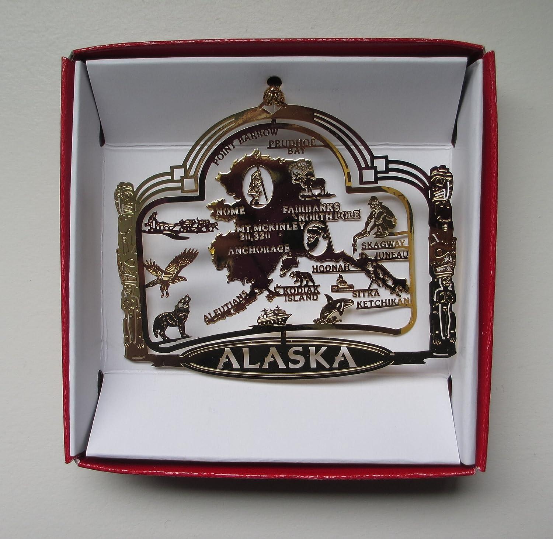 Amazon.com: All 50 States Brass Christmas Ornaments USA America ...