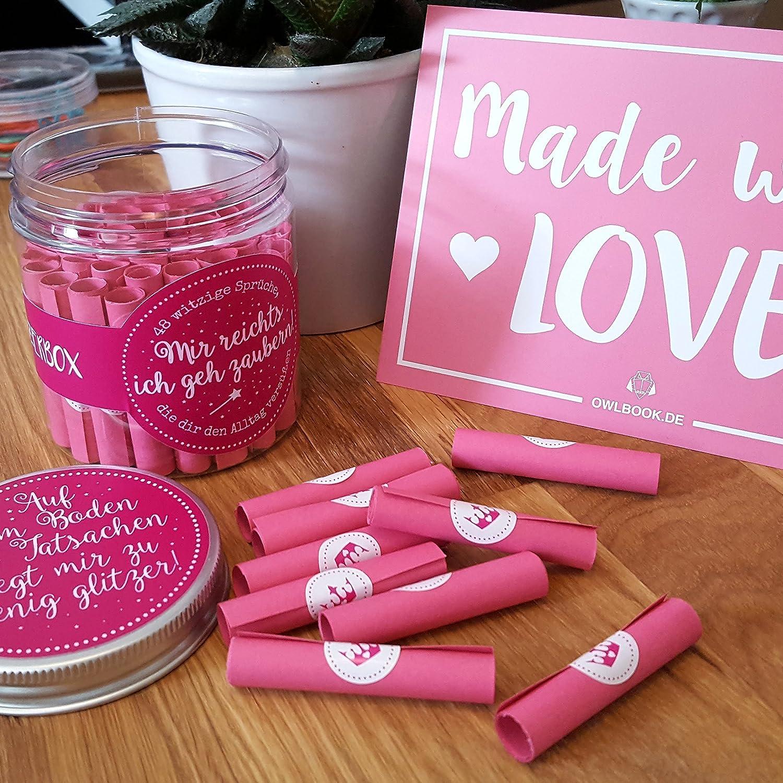 Glitzerbox Mit Vielen Lustigen Witzigen Sprüchen U0026 Botschaften Geschenkidee  Valentinstag Frau Freundin: Amazon.de: Handmade