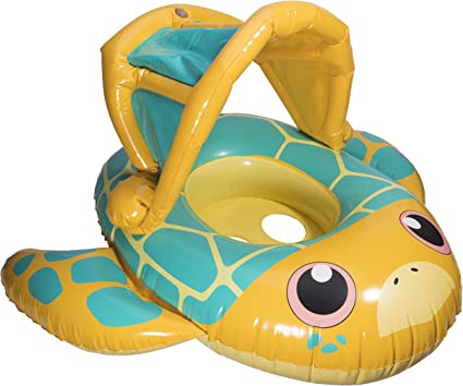 Amazon.com: Swimways Sun Canopy bebé Barco Piscina Flotador ...