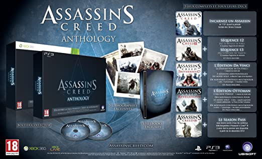 Assassins creed anthology exclusivité amazon: microsoft xbox 360