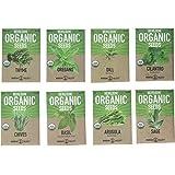 Mountain Valley Seed Company Organic, Heirloom, Non-GMO, Herb Garden Seeds – 8 Variety Kitchen Herbal Gardening Assortment - Arugula, Basil, Chives, Cilantro, Dill, Oregano, Sage, Thyme