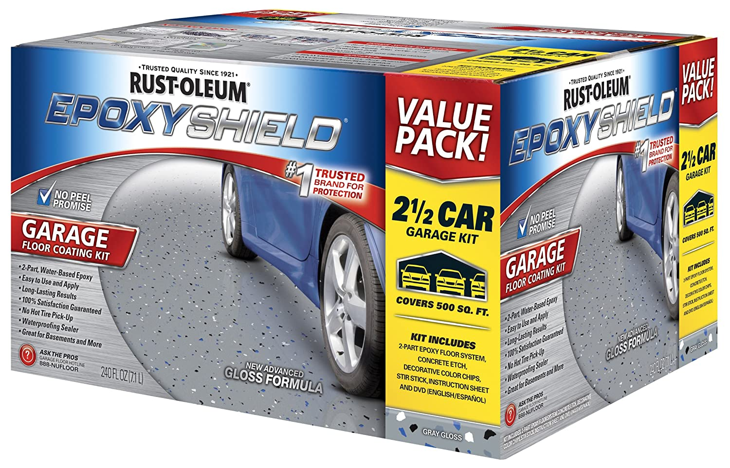 Rust Oleum 261845 Epoxyshield Garage Floor Coating 2 Gal Gray