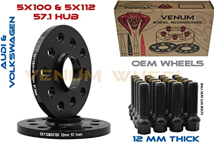 Amazon Pair Of 60mm Black Hubcentric 6060 Wheel Spacers 60x6000 Inspiration Audi Bolt Pattern