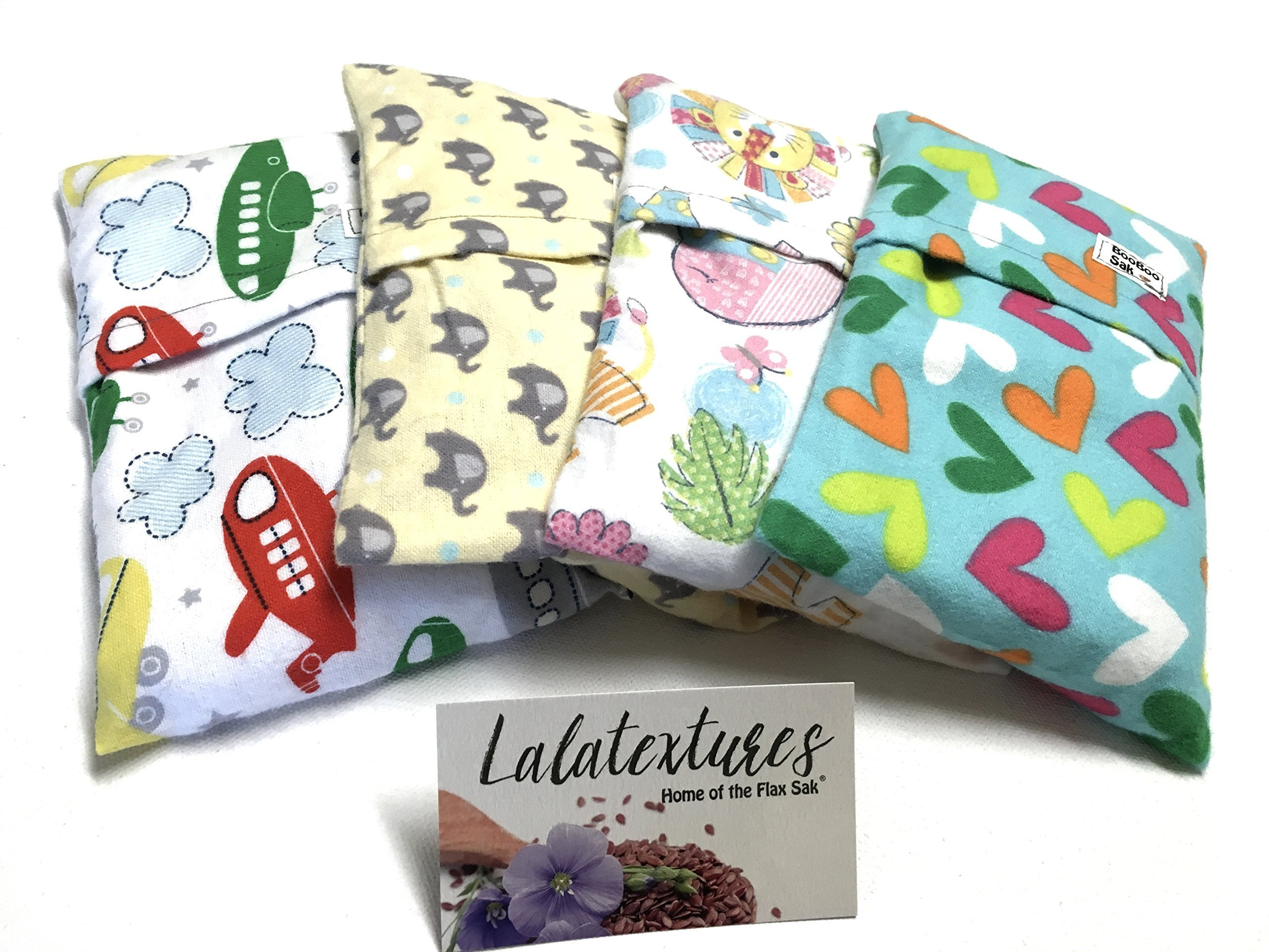 2 BooBoo Saks, Flax saks for children. Keep in the freezer and soothe their ouchies!!! Great for bedtime soothers or huggers...