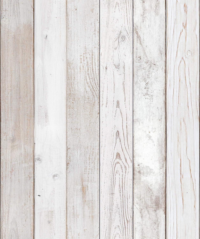 Reclaimed Wood Distressed Wood Panel Wood Grain Self-Adhesive Peel-Stick Wallpaper (VBS304)