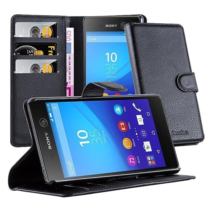 Cadorabo Carcasa para Sony Xperia M5 móvil en Phantom Negro ...