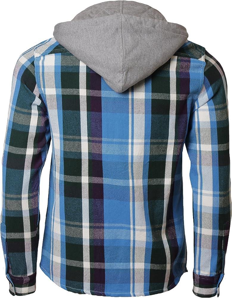 Tokyo Laundry - Camisa con Capucha para Hombre Bleu - Bleu XL: Amazon.es: Ropa y accesorios