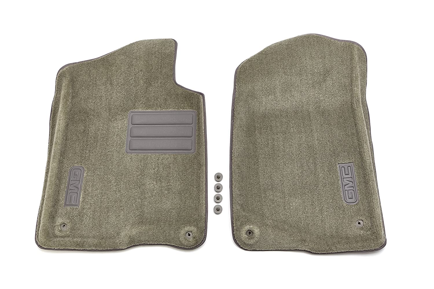 GM Accessories 19155778 Front Carpeted Floor Mats in Dark Titanium with GMC Logo General Motors