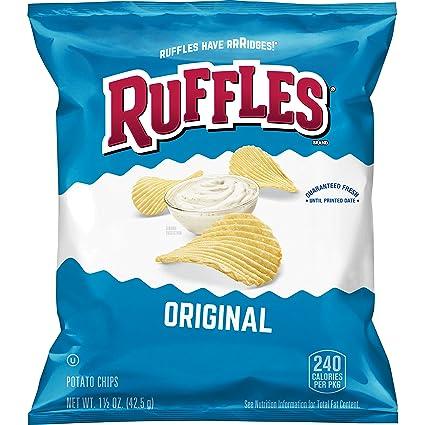 Ruffles Chips de patatas crudas, Cheddar crema agria, bolsas ...
