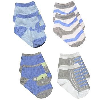 Amazon Com Baby Essentials Boys Blue Elephant Grey Monkey Chevron