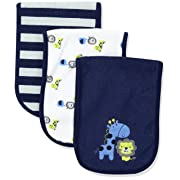 Gerber Baby Boys' 3 Pack Terry Burp Cloth, Safari, 18  x 6.25