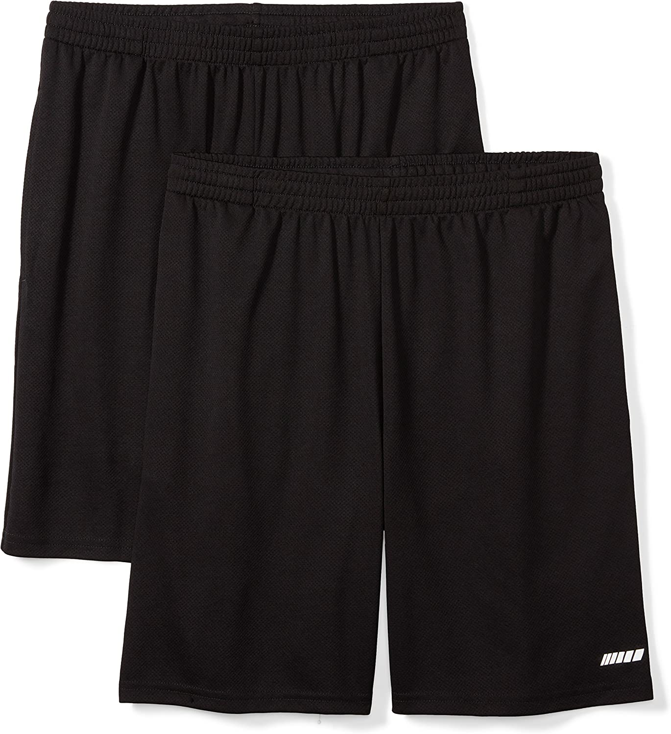 Essentials Men's 2-Pack Loose-Fit Performance Shorts: Clothing