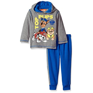 Nickelodeon Boys' 2 Piece Paw Patrol Thermal Top and Fleece Jogger