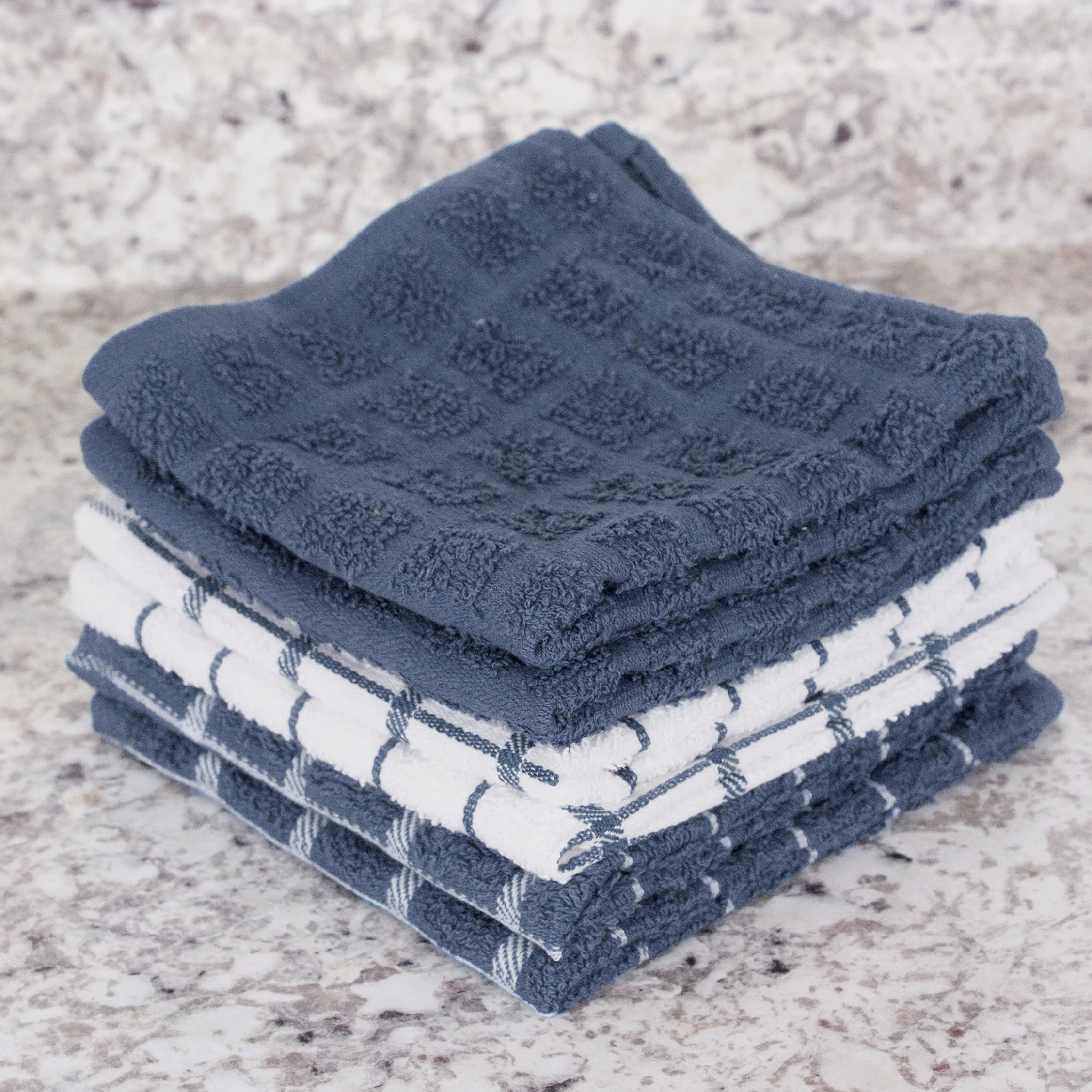 "Ritz 100% Terry Cotton, Highly Absorbent Dish Cloth Set, 12"" x 12"", 6-Pack, Federal Blue by Ritz (Image #9)"