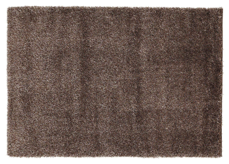 BREEZE SHAGGY Hochflor Langflor Teppich in braun, Größe  200x200 cm