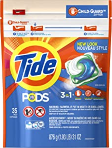 Tide PODS Laundry Detergent Liquid Pacs, Original Scent, HE Compatible, 35 Count (Packaging May Vary)