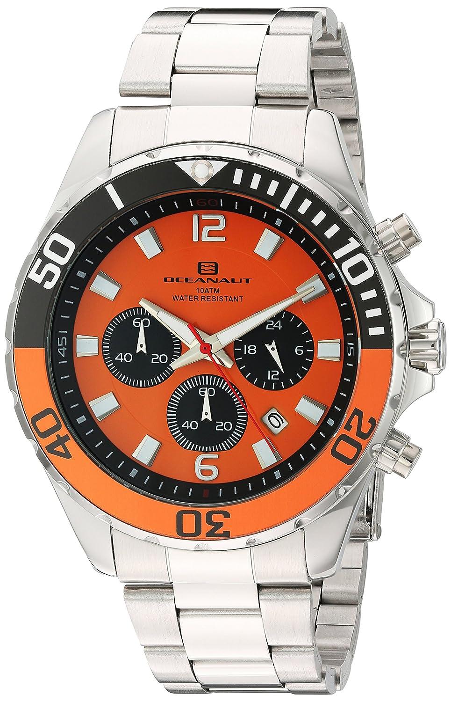 Oceanaut   -Armbanduhr  Analog  Quarz Edelstahl OC2522_Orange -Silver
