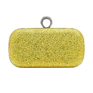 BABEYOND mujer clutches carteras de mano brillante lentejuelas fluorescentes un anillo de embrague fiesta de noche