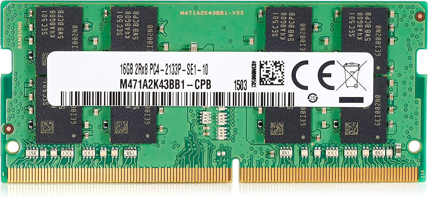 HP 3TK84AT DDR4-16 GB - SO-DIMM 260-Pin - 2666 MHz/ PC4-21300 - 1.2 V - Unbuffered - Non-ECC - for Elite Slice, for Meeting Rooms, ProDesk 600 G4, ProOne 400 G3, 16 GB