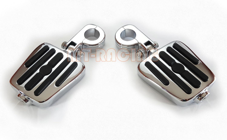 YUIKUI RACING オートバイ汎用 1-1/4インチ/32mmエンジンガードのパイプ径に対応 ハイウェイフットペグ タンデムペグ ステップ YAMAHA XV 1900 RAIDER From 2008等適用   B07PQGH33W