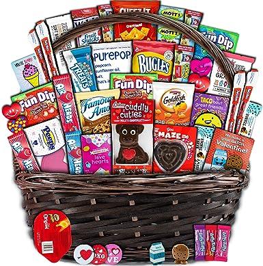 Valentines Delights Cesta de regalo de variedad de chocolate o caramelos Pack de 25: Amazon.es: Alimentación y bebidas