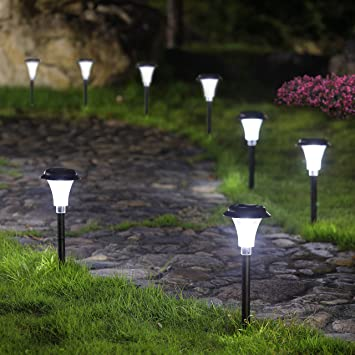 amazoncom twinkle star solar path lights solar garden lights outdoor led solar landscape lights outdoor garden lights 8 pack garden u0026 outdoor