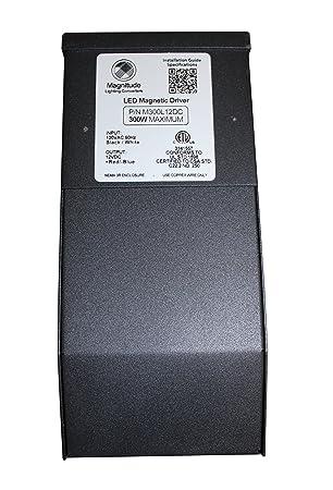 12V Magnitude 300W LED Driver Transformer Magnetic LED Dimmable Driver UL Standard M300L12DC 12VDC ETL Nema