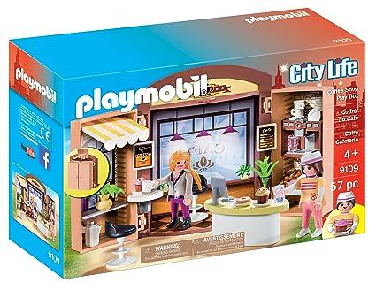 Amazon.com: Playmobil Café tienda Play Box: Toys & Games