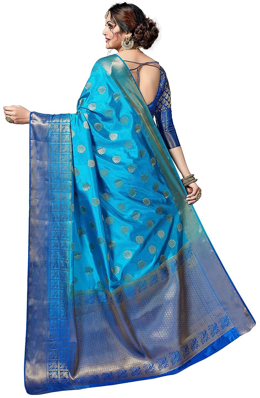 Banarasi Poly Silk Saree With Blouse Piece