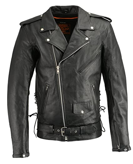 08c9bd95f34 Amazon.com  Milwaukee Leather Men s Classic Side Lace Concealed Carry Motorcycle  Jacket Tall  Automotive