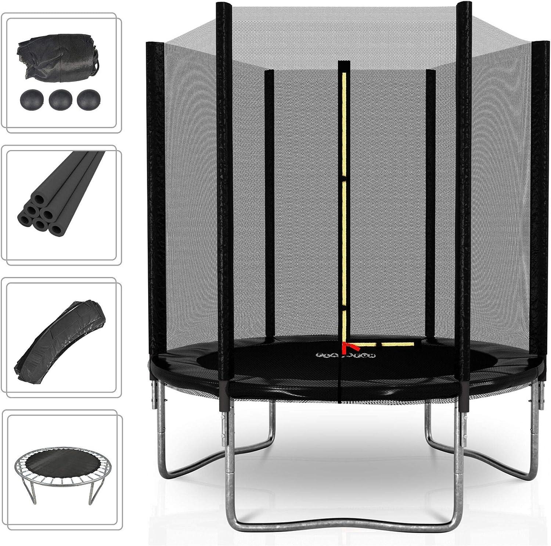 PLAY4FUN Deluxe 6FT - Cama elástica de jardín (diámetro 185 cm), Color Negro: Amazon.es: Deportes y aire libre