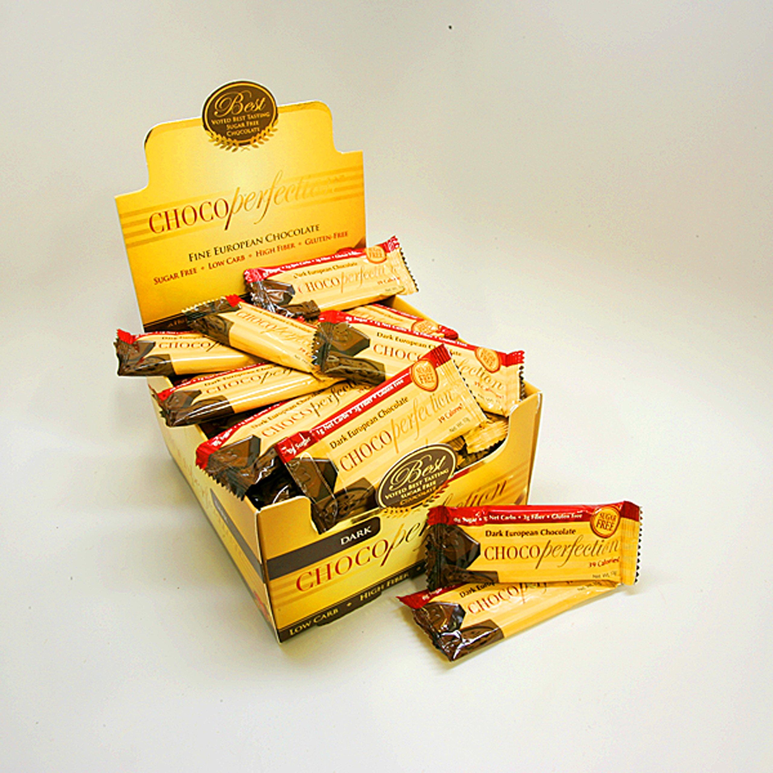 Sugar Free Dark Chocolate ChocoPerfection Sixty Dark Bars, 10g size by ChocoPerfection