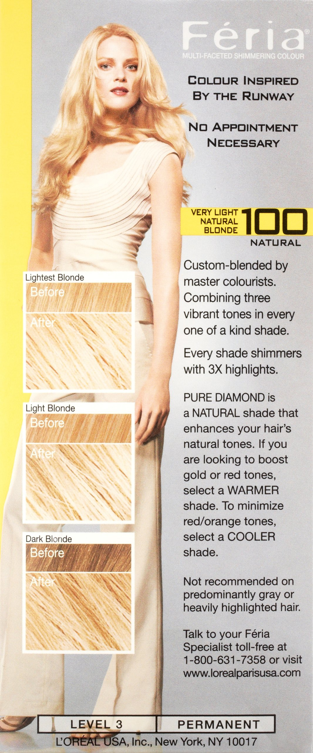 Feria Multi-faceted Shimmering Color 3x Highlights No. 100 ...