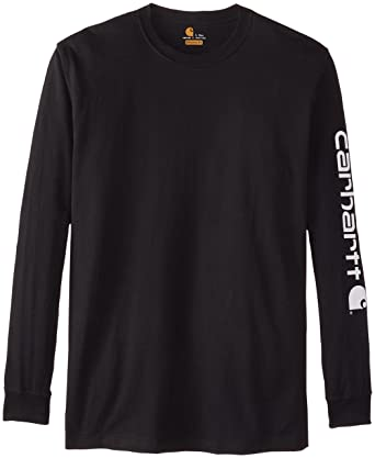 62760c47f Carhartt Men's Signature Sleeve Logo Long Sleeve T Shirt K231 SML Black