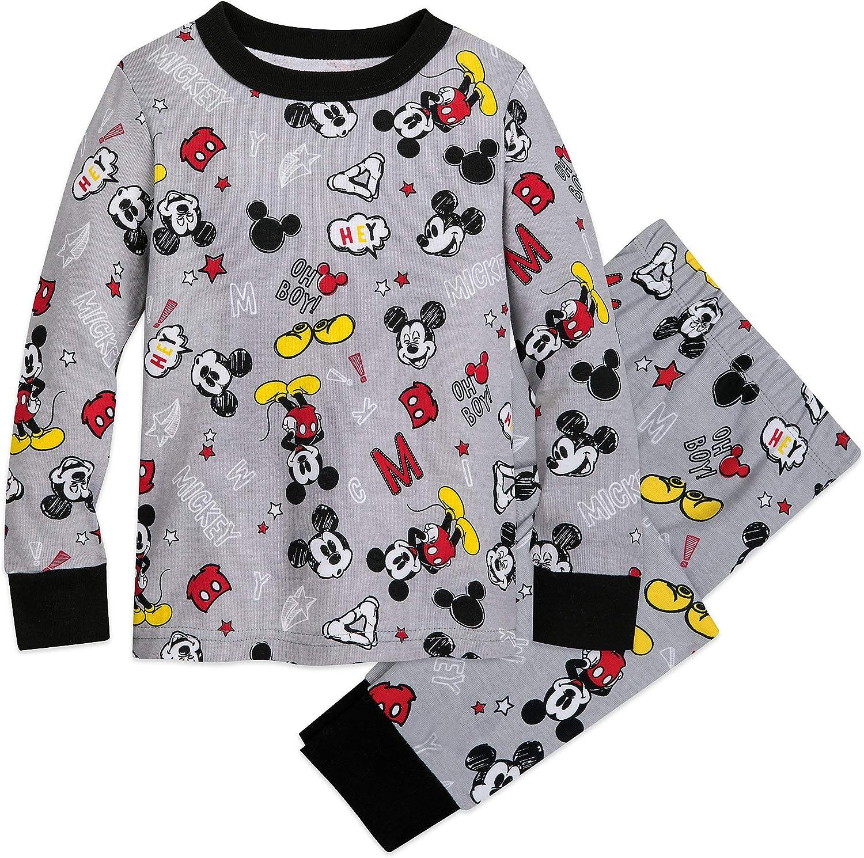 Disney Boys Mickey Mouse Pajamas Black /& White Size 2T Shirt /& Pants NEW