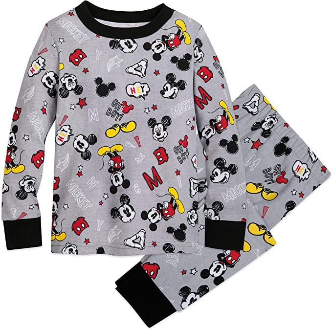 Disney Authentic Mickey Mouse Pajamas Set Boys PJ/'s Size 4