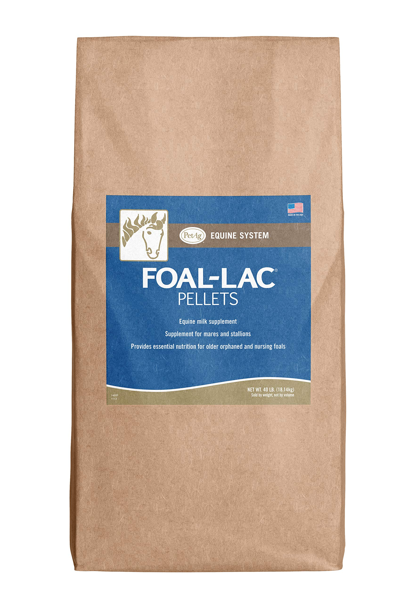 PetAg Foal-Lac Pellets - Supplement for Nursing Foals - Supplement for Foal's Creep Ration with Protein & Fiber - 40 lbs