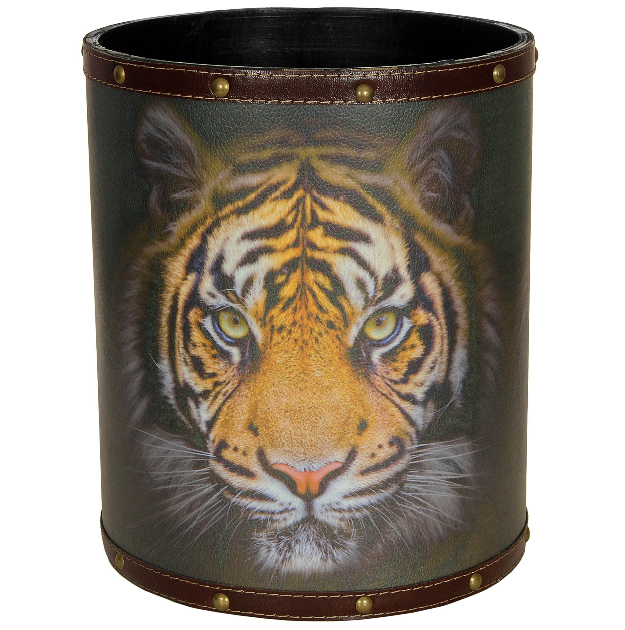 ORIENTAL FURNITURE CAN-WST-TIGER Bengal Tiger Waste Basket