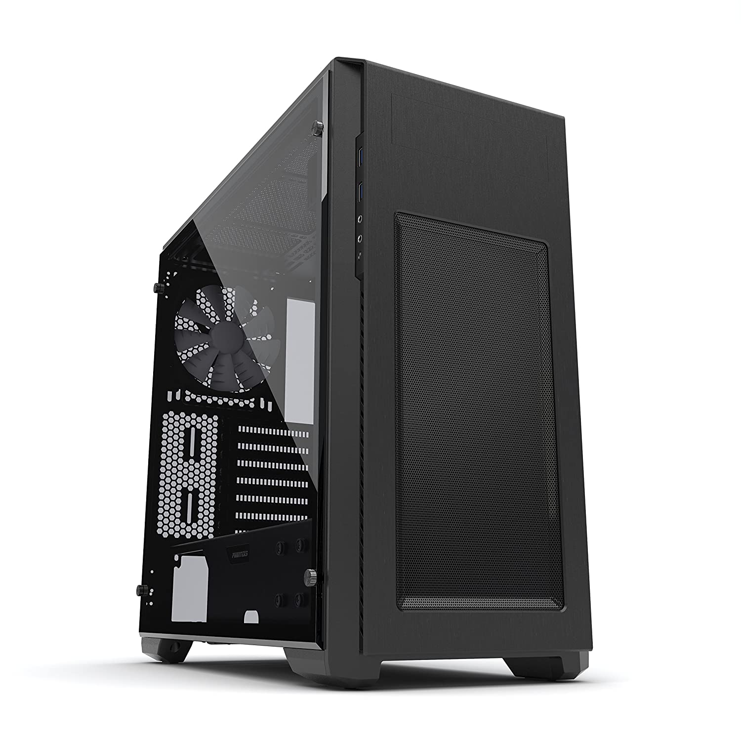 Phanteks Pro M Series (PH-ES515PTG_BK) Tempered Glass ATX Mid Tower Case, Black