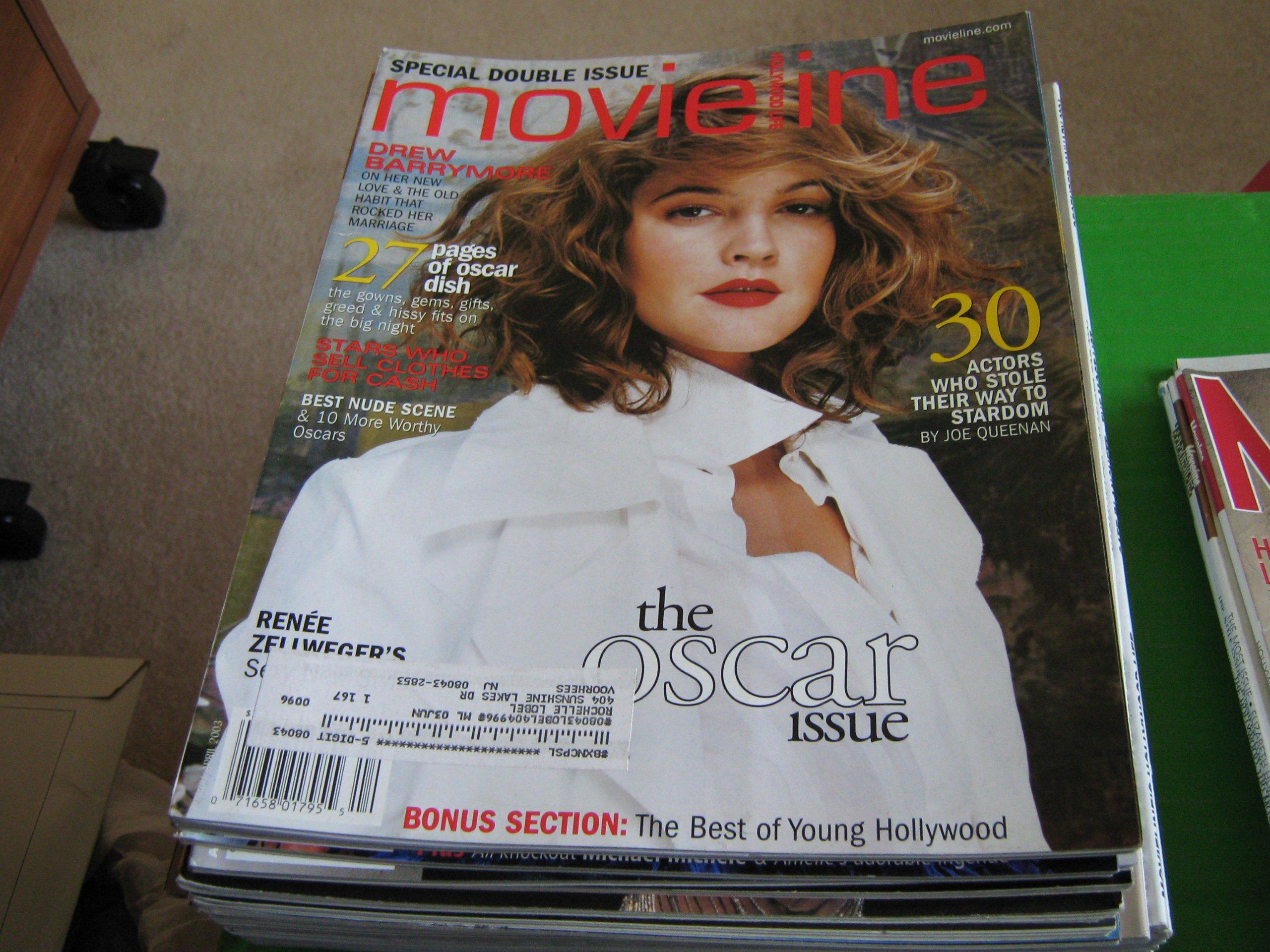 Read Online Movieline Magazine (Drew Barrymore , Best Nude Scene , 27 Pages of Oscar Dish , Renee Zellweger, March / April 2003) ebook