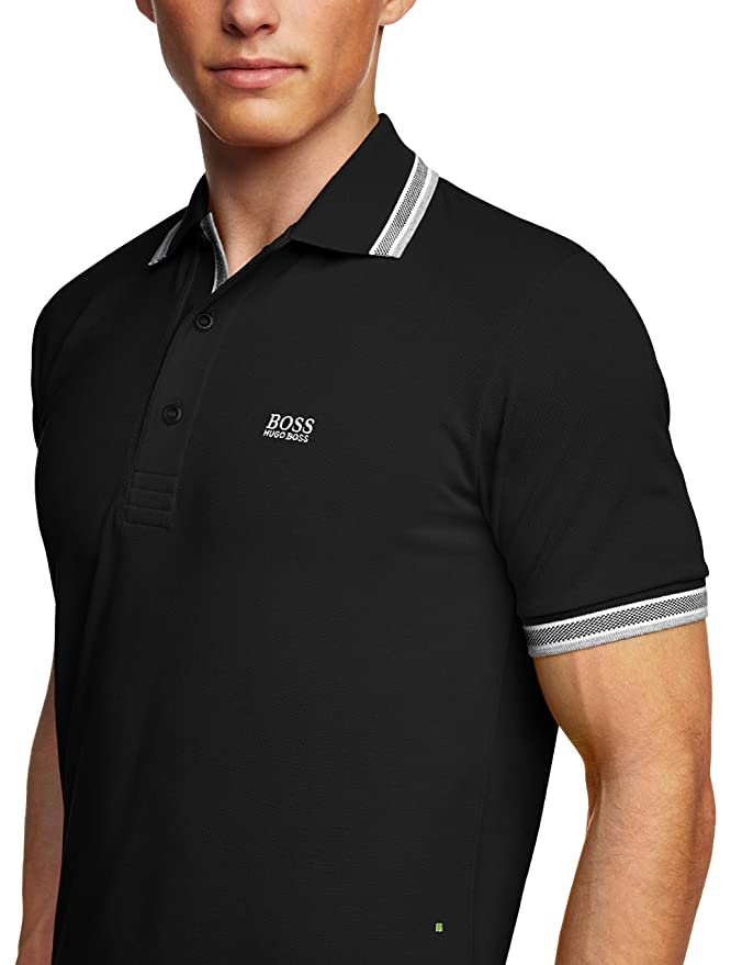 6a57cac649a BOSS Men s Paddy Short Sleeve Polo Shirt  Hugo Boss Green  Amazon.co.uk   Clothing